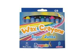 Penguin C9 Super Jumbo Wax Crayons - (Box of 9)