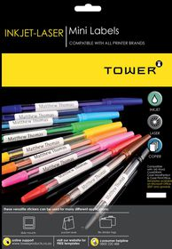 Tower W225 Mini Inkjet-Laser Labels - Pack of 25 Sheets