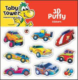 Toby Tower Puffy Stickers - Cars