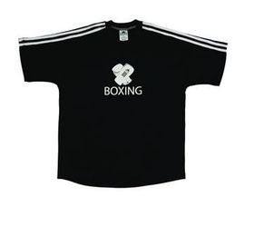 Mens adidas Half Sleeve Boxing Tee - Black