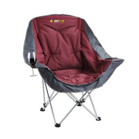 OZtrail - Moon Chair With Armrest - Terracotta
