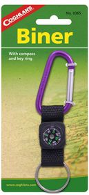 Coghlan's - Biner with Compass and Key Ring - Purple
