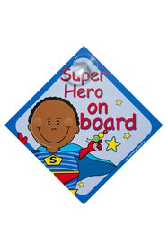 Jackflash - Baby On Board Sign - Super Hero