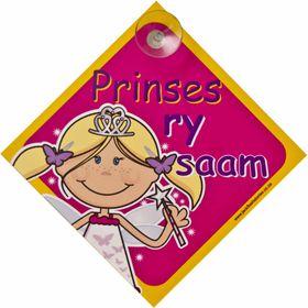 Jackflash - Baby On Board Sign - Princess (Afrikaans)