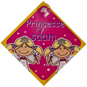 Jackflash - Baby On Board Sign - Princesses (Afrikaans)