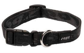 Rogz Medium Alpinist Matterhorn Dog Collar - 16mm Black