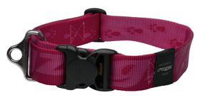 Rogz - Alpinist Big Foot Dog Collar - 2 x Extra-Large - 4cm Pink