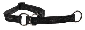Rogz Medium Alpinist Matterhorn Web Half-Check Dog Collar - 16mm Black