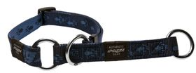 Rogz Medium Alpinist Matterhorn Web Half-Check Dog Collar - 16mm Blue