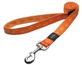 Rogz - Extra-Large Alpinist Everest Fixed Dog Lead - 2.5cm Orange