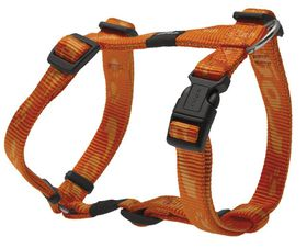 Rogz Medium Alpinist Matterhorn Dog H-Harness Medium -16mm Orange