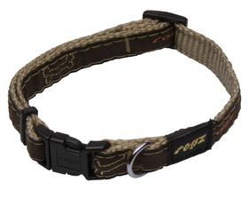 Rogz Fancy Dress Scooter Dog Collar Medium -16mm Bronze Bone