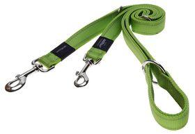 Rogz Utility Fanbelt Multi-Purpose Dog Lead Large - 20mm Lime Reflective