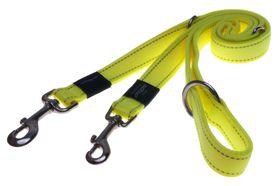 Rogz Utility Nitelife Multi-Purpose Dog Lead Small - 11mm Yellow Reflective