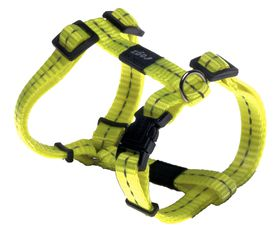 Rogz Utility Nitelife Dog H-Harness Small - 11mm Yellow Reflective