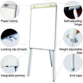 Parrot Standard Magnetic Flipchart - 100cm x 64cm