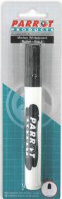 Parrot Whiteboard Marker Bullet Tip - Black (Blister 1)