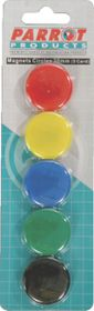 Parrot 30mm Circle Magnets (Pack of 5)