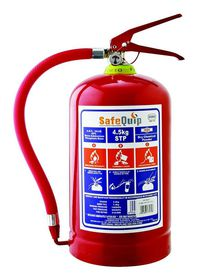 Safe-Quip - 4.5Kg Dcp Fire Extinguisher With Bracket - Red