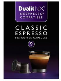 Dualit - NX Classic Espresso Cafe Capsules - Pack of 10