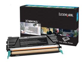 Lexmark X746H1KG High Yield Return Program Laser Toner Cartridge - Black