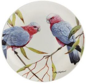 Maxwell and Williams - Eric Shepherd Pink and Grey Galas Decal Cake Plate - 20cm - White