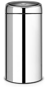 Brabantia - Twin Bin With Plastic Buckets - 2 x20 Litre Brilliant Steel