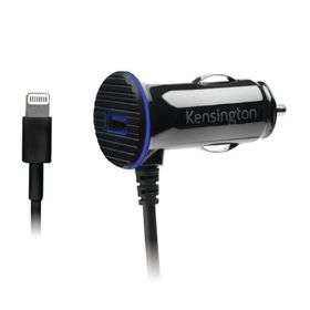 Kensington PowerBolt Car Charger 3.4 Amp - Dual USB Fast Charge for Apple (Lightning) - Apple iPhone 5/5S/SE/6/6S/6S PLUS