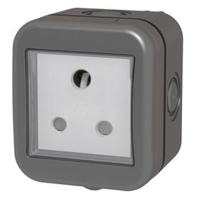 Stingray - IP55 Single SA Socket - Grey