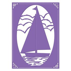 """Couture Creations The Harmony 5 x 7"""" Embossing Folder – Sail Away"""