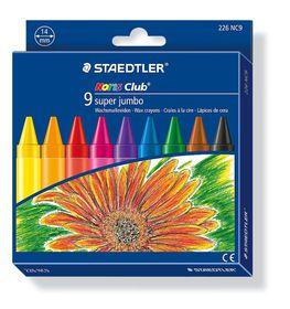 Staedtler Noris Club 9 Super Jumbo Wax Crayons
