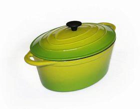 LK's - Oval Casserole - Green - 3 Litre