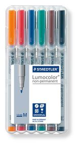 Staedtler Lumocolor 6 Non-Permanent Medium Markers