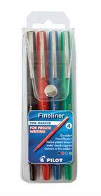 Pilot Fineliner Pens (Wallet of 4 Colours)
