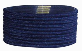 Chic Thin Hair Elastics Band 10 Pack - Navy<br /> <br />