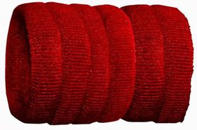 Chic Harmfree Thin Hairing Band 6 Pack - Red