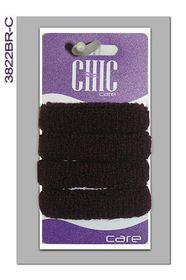 Chic Harmfree Hairing Band 4 Pack - Brown