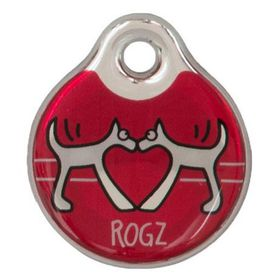 Rogz ID Tagz Large Self-Customisable Instant Resin Tag - Red