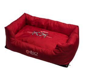 Rogz - Spice Pod Dog Bed - Red Heart Design - Large