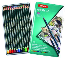 Derwent Artists Pencils - Tin of 12