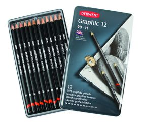 Derwent Graphic Soft Pencils - Tin of 12