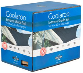 Coolaroo - Extreme Shade Sail Rectangle - Charcoal