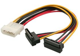 Lindy Molex White Male 2X SATA Black Fat Splitter