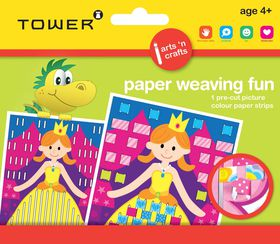 Tower Kids Paper Weaving Fun - Princess