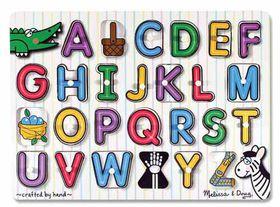 Melissa & Doug See-Inside Alphabet Peg Puzzle - 26 Pieces