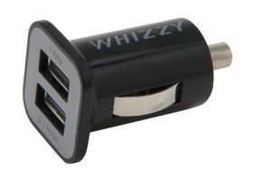 Whizzy Double USB Car Charger - Black