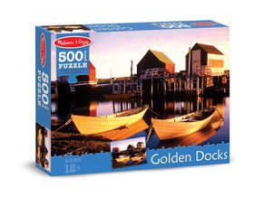 Melissa & Doug Golden Docks Jigsaw Puzzle - 500 Piece