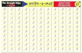 Melissa & Doug Addition Problems Write-A-Mat - Bundle of 6