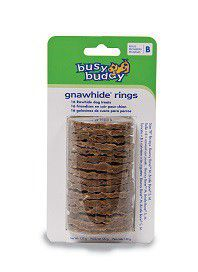 Pet Safe - Busy Buddy Gnawhide Rings - Rawhide Refills - Size B