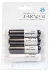 Silhouette CAMEO Sketch Pen Pack - 3 Black & 1 White